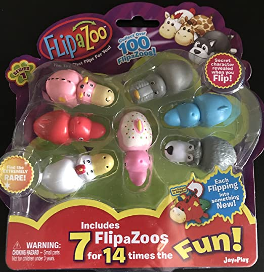 FLIP a ZOO Includes 7 FlipaZoos (1 Random Pack Supplied ...