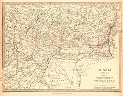 Amazon.com: Historic Map | 1838 Russia in Europe Part VII | Society ...