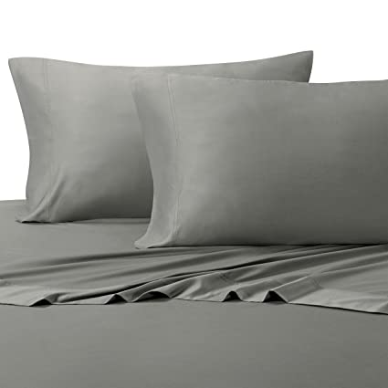 Solid Gray Split King: Adjustable King Bed Size Sheets, 5PC Bed Sheet Set