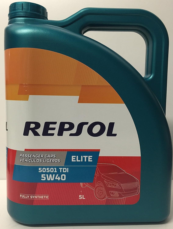 ACEITE MOTOR REPSOL ELITE TDI 50501 5W-40 25 LITROS (5x5 litros): Amazon.es: Coche y moto