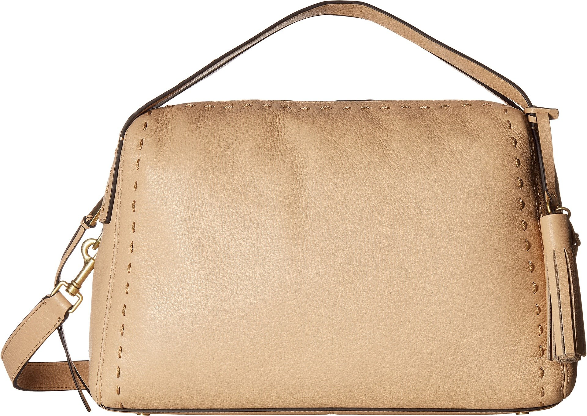 Cole Haan Womens Ivy Pic Stitch Satchel Nude One Size