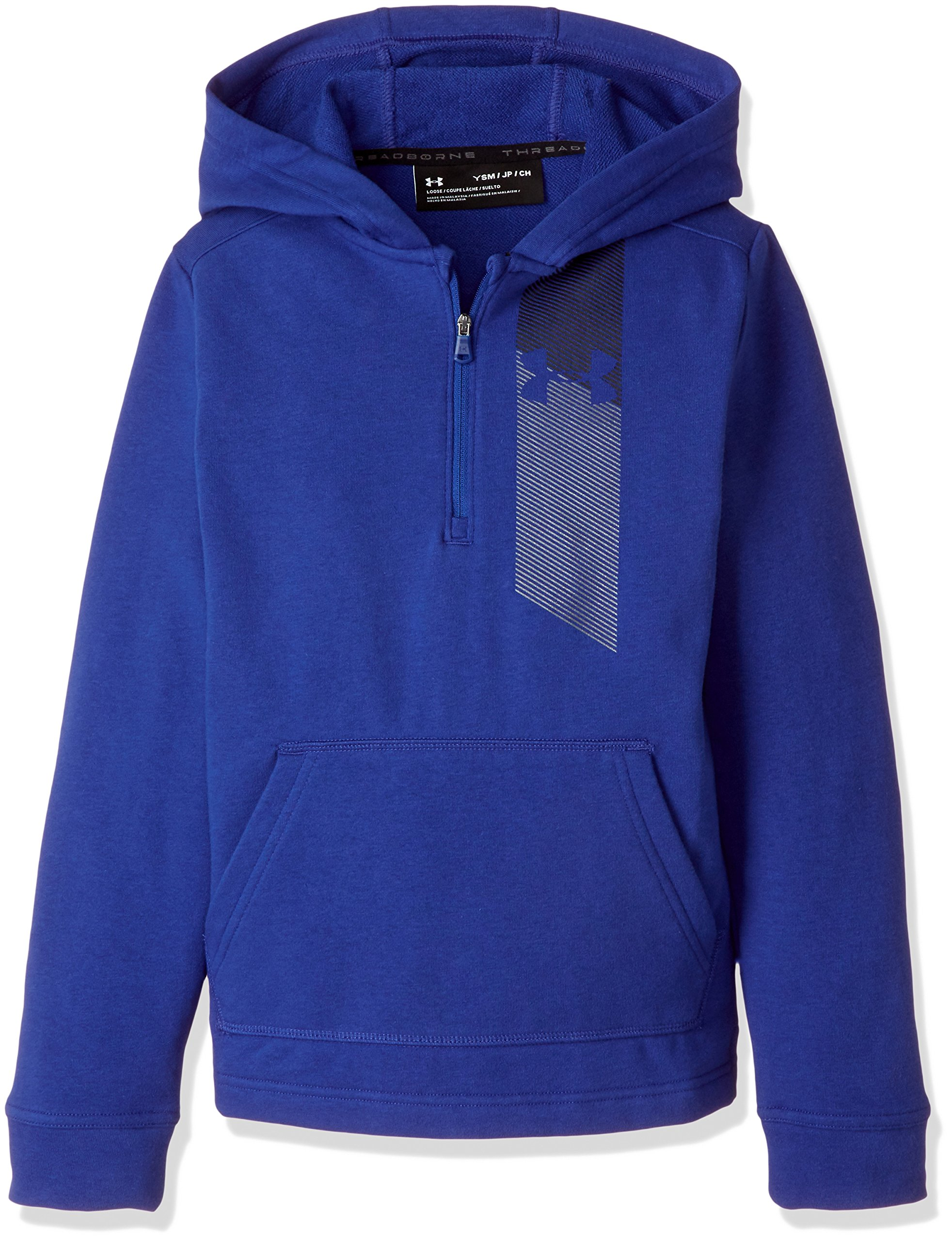 Under Armour Boys' Microthread Terry ½ Zip Hoodie, Royal (400)/Graphite, Youth X-Large