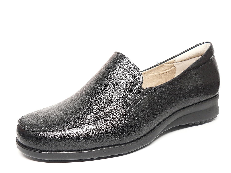 Zapato casual mujer tipo mocasin en piel color negro de la marca PITILLOS 2316 - 30N (41, negro): Amazon.es: Zapatos y complementos