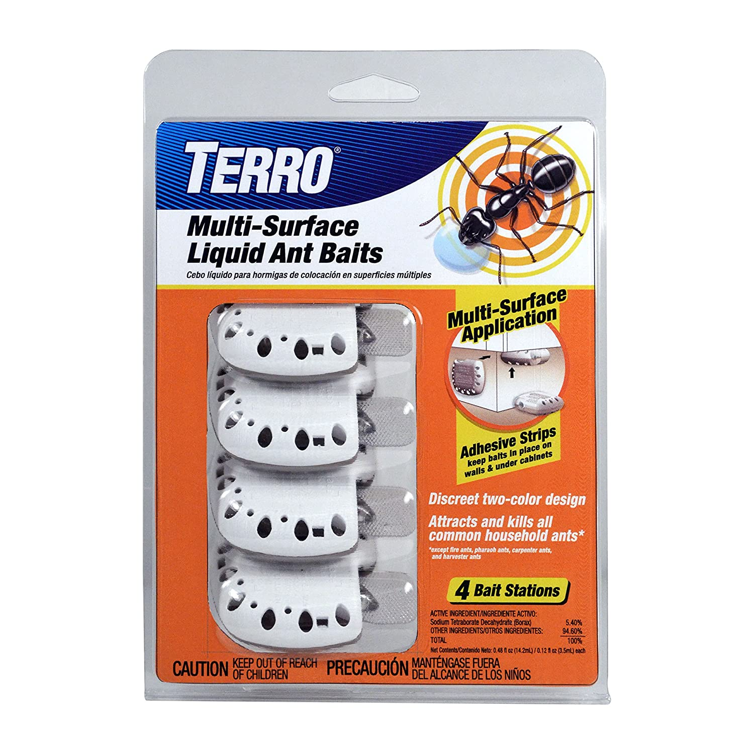 Amazon.com : Terro Multi Surface Liquid Ant Baits with Adhesive Strips for Discreet baiting : Garden & Outdoor