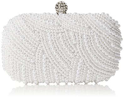 Quiz Womens Pearl Box Bag Clutch White (White)  Amazon.co.uk  Shoes ...