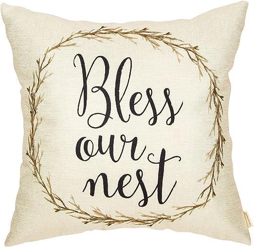 18/'/' Retro Country Sofa Decor Throw Pillow Case Cotton Linen Cushion Cover