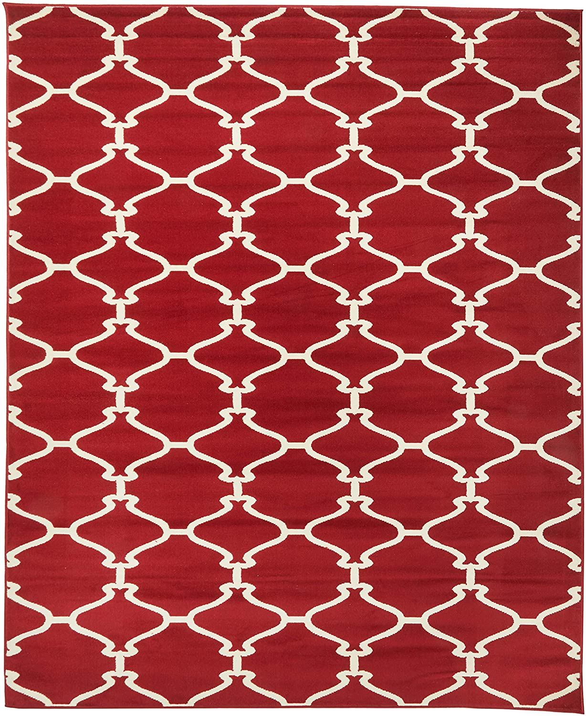 Sweet Home Stores Clifton Collection Blue Moroccan Trellis Design Area Rug 710X910