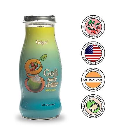 Zumo de gogee Bayas de Goji con agua de coco – mezcla de ...