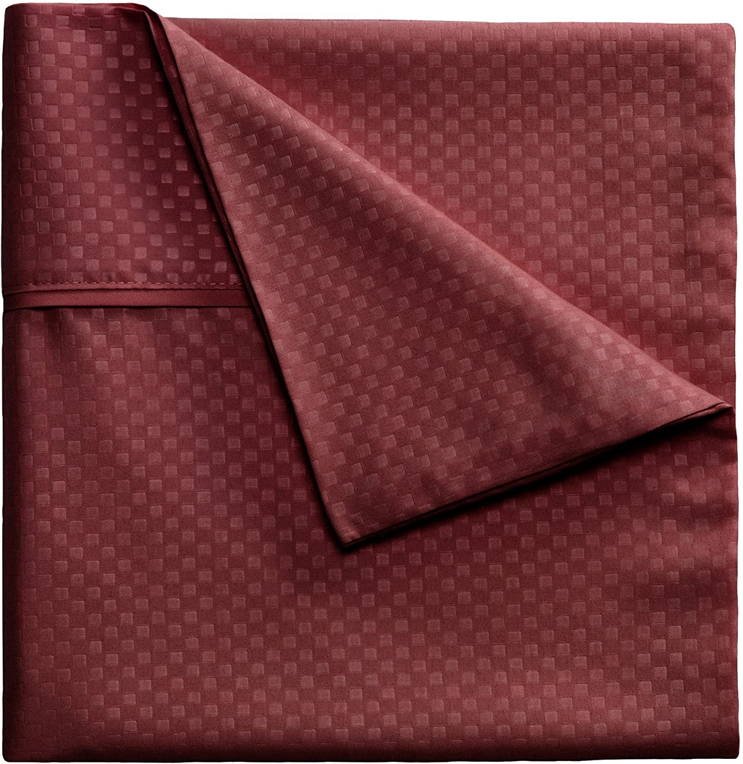 Brushed Microfiber Sheets Set- 3 Piece Hypoallergenic Bed Linens with Deep Pocket Fitted Sheet and Embossed Design by Lavish Home (Burgundy, Twin)