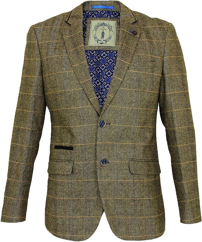 Mens Cavani Wool Tweed 3 Piece Suit Sold Separately Blazer Waistcoat Trousers