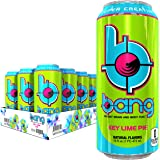 Bang Energy Drink, Key Lime, 0 Calories, Sugar Free with Super Creatine, 16 Fl Oz (Pack of 12)
