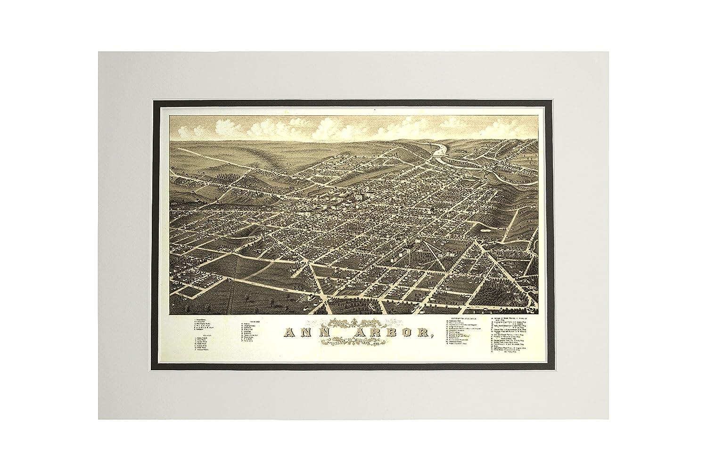【海外輸入】 アナーバー、ミシガン州 – B06XZTR779 パノラマMap パノラマMap Canvas Tote Bag x LANT-9077-TT B06XZTR779 11 x 14 Matted Art Print 11 x 14 Matted Art Print, オオトウムラ:4b75091f --- arianechie.dominiotemporario.com