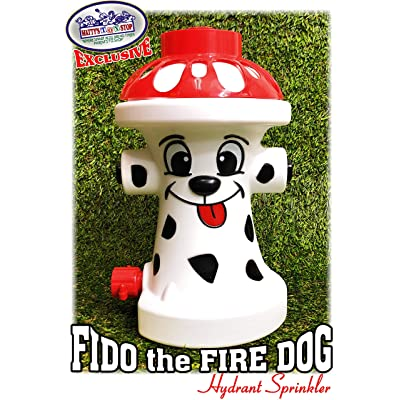 """Matty's Toy Stop FIDO The FIRE Dog Hydrant Water Sprinkler for Kids, Attaches to Standard Garden Hose & Sprays Up to 10 Feet High & 16 Feet Wide, Measures 10.75"""" High: Toys & Games"""