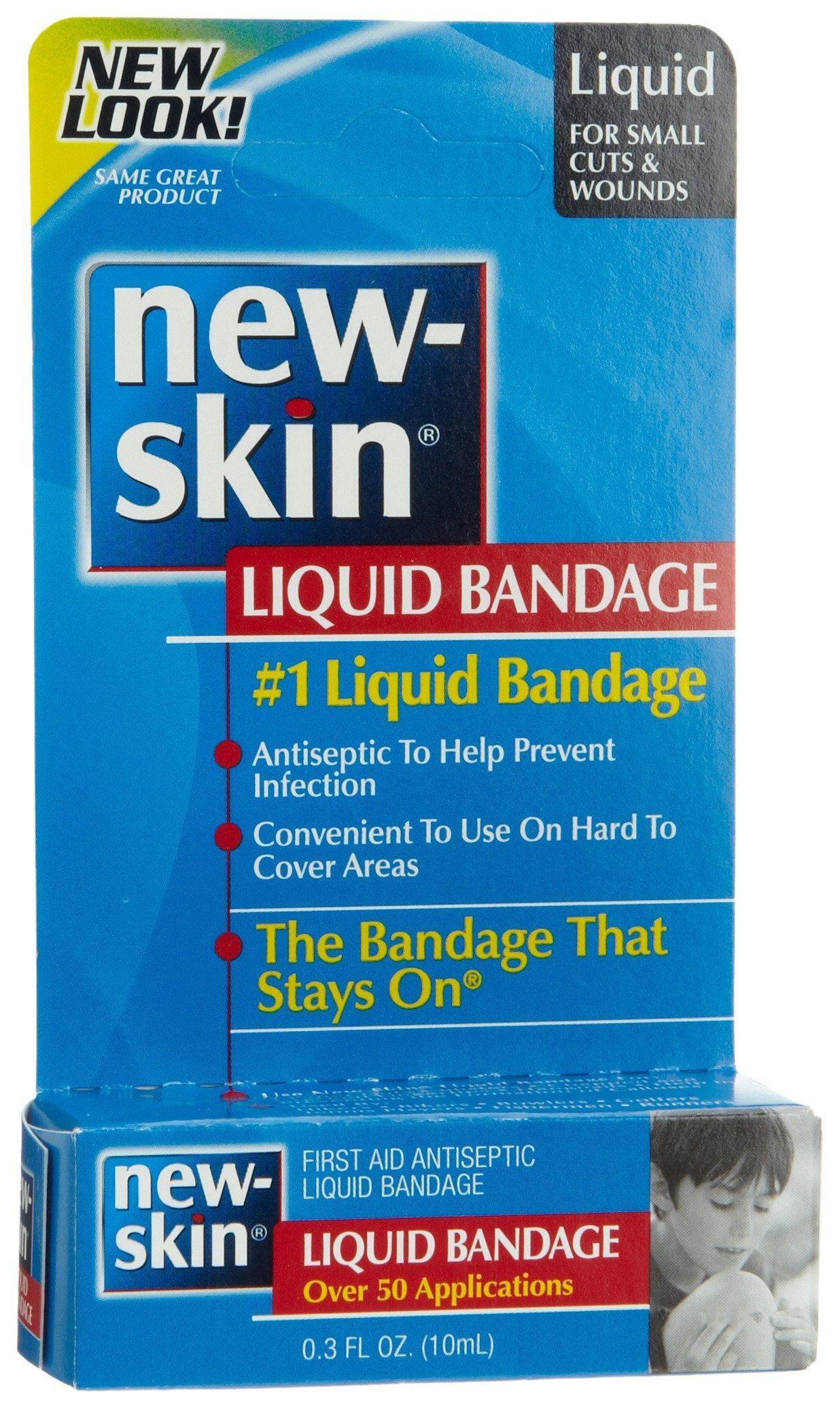 New-skin Antiseptic Liquid Bandage - 0.3 Oz (Pack of 6) by New-Skin