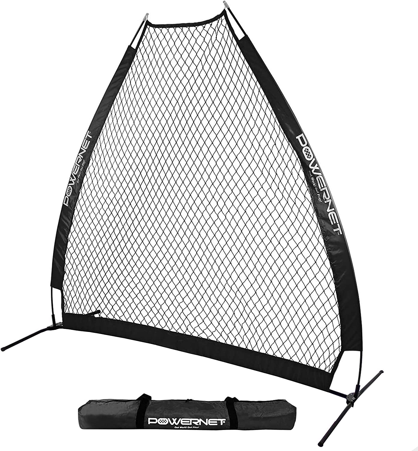 PowerNet Portable Baseball Pitching Screen 7 X 7 Bow Style