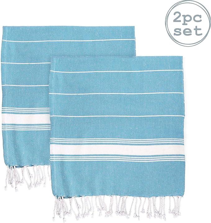 Pinzon by Juego de toallas de algod/ón egipcio 2 toallas de ba/ño color azul claro