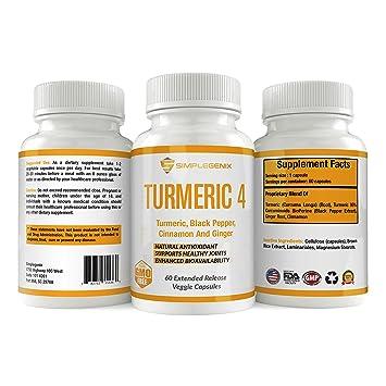 Amazon.com: Turmeric 4 – con curcumin, pimienta negra ...