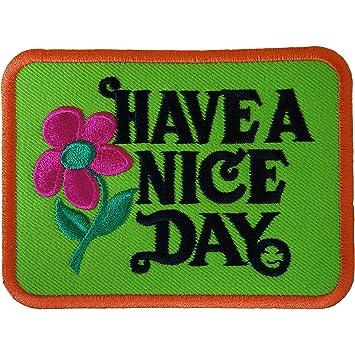 Have A NICE Day - Parche bordado para coser en los años 60, diseño de