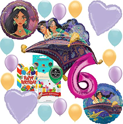Amazon.com: Aladdin Princesa Jasmine Party Supplies Globo de ...