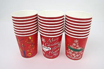 Amazon.com: Conjunto de 32 Navidad diseño 10oz desechables ...