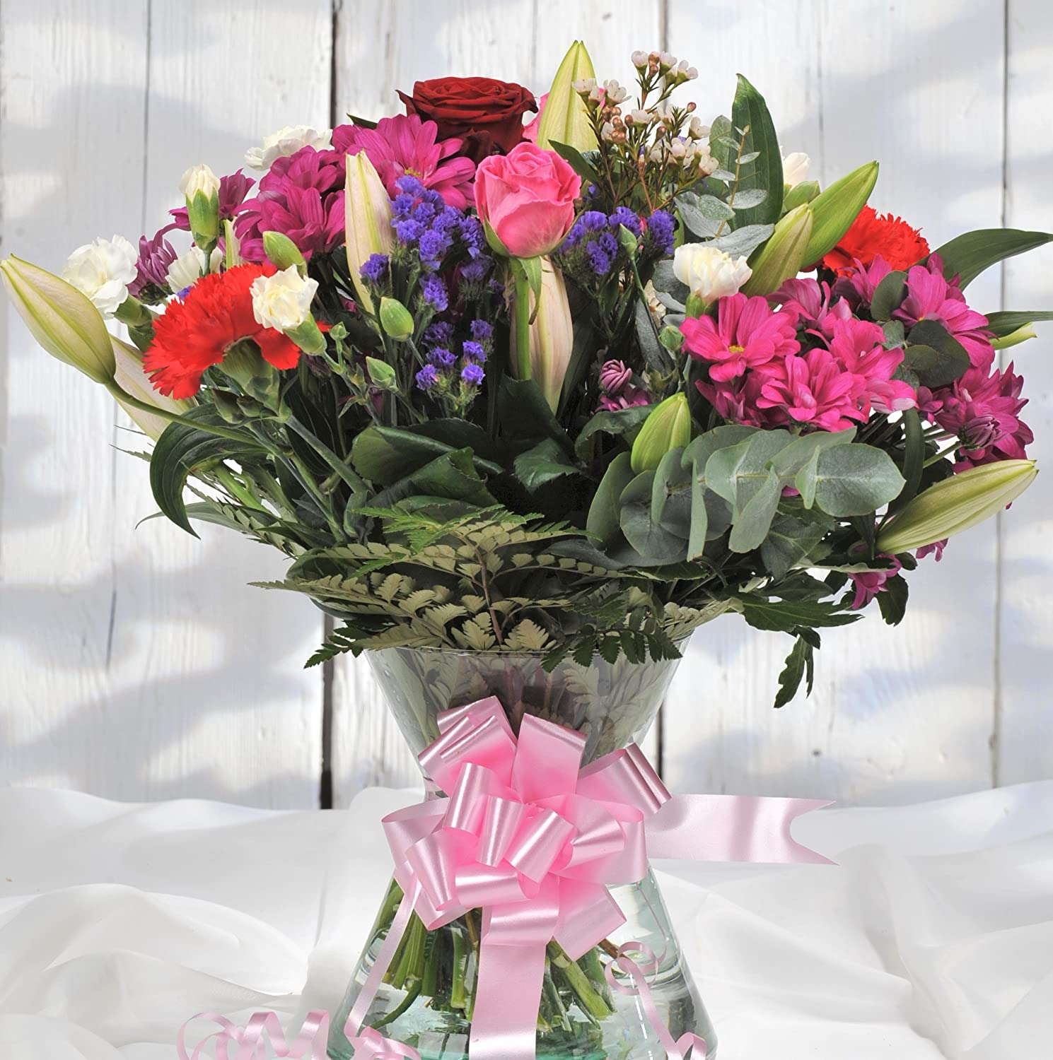 Homeland florists large mixed bouquet with a single luxury naomi homeland florists large mixed bouquet with a single luxury naomi velvet rose at its heart red amazon garden outdoors izmirmasajfo