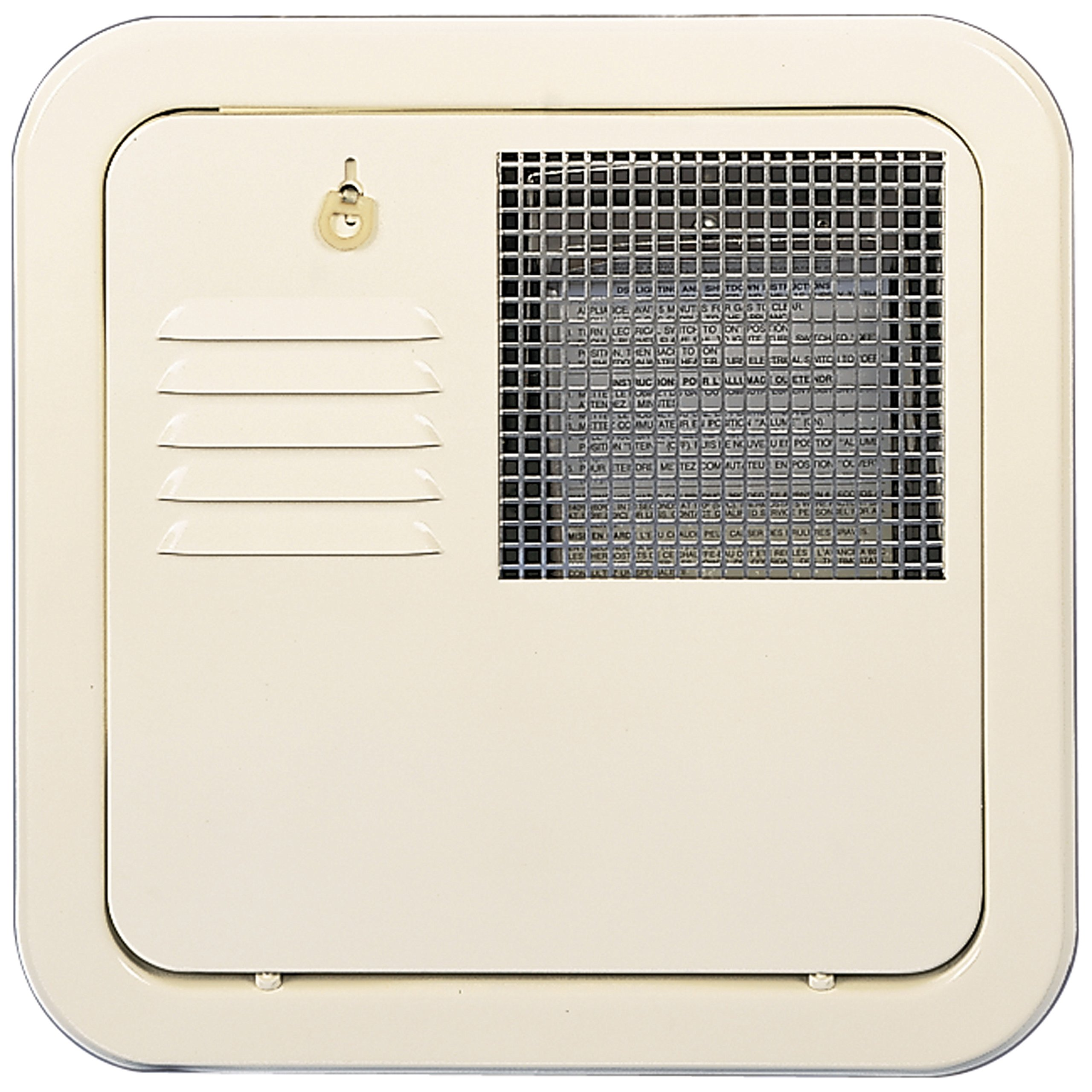 Suburban 6255ACW Colonial White SW6 Flush Mount Water Heater Door by Suburban