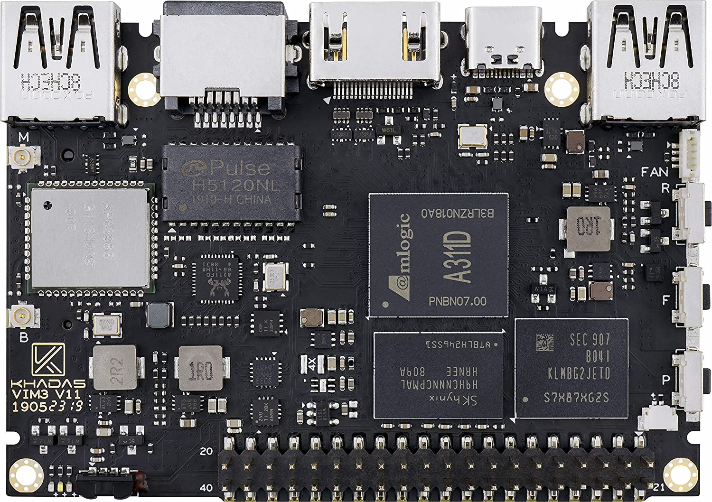 Khadas VIM3 Basic Single Board Computer with LPDDR4 2+16GB EMMC AP6356S Wi-Fi, 2X2 MIMO with RSDB