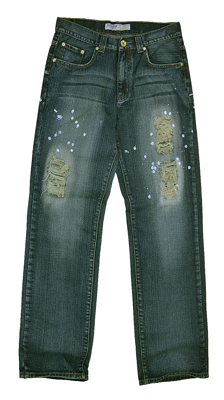 #M1402-MN016 Men's Relax Straight Leg Stylish Wash Premium Jeans Size: 32 x 34
