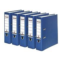 Falken Carpeta de polipropileno de colores, 3 y 5 unidades, color azul 5 unidades
