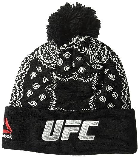 ea62d8184 Reebok UFC Adult Women Fanwear Cuffed Knit, One Size, Black