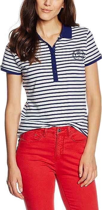 Pedro del Hierro Polo Rayas Camiseta, Blues, 1 para Mujer: Amazon ...