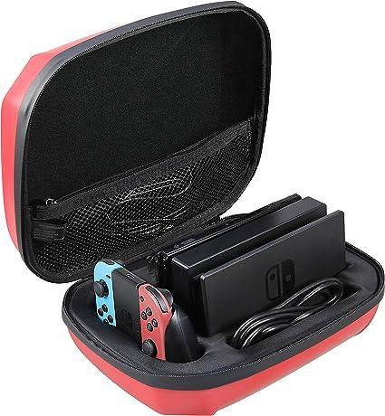 AmazonBasics – Funda de almacenamiento para Nintendo Switch, color rojo: Amazon.es: Videojuegos