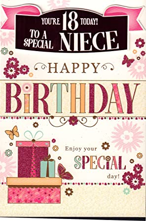Fabulous Niece 18Th Birthday Card Youre 18 Today To A Special Niece Funny Birthday Cards Online Alyptdamsfinfo