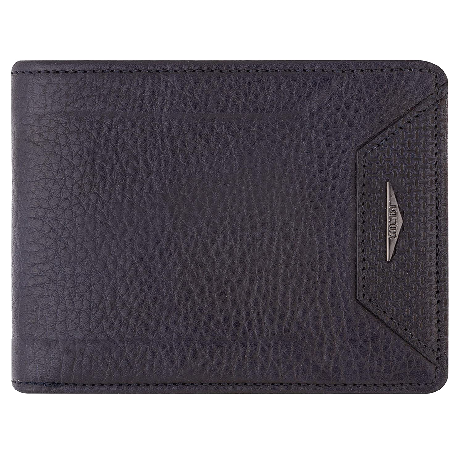 ID Window 2 Cash Pockets Made in Italy Excellent Gift in Attractive Packaging 9 Business Credit Card Holder Giudi Deluxe Genuine Leather Comfortable Bifold Men/'s Wallet