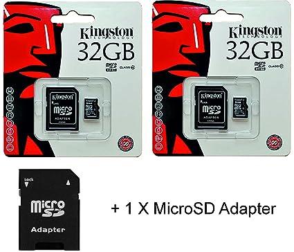 2 x Kingston 32 GB para tarjeta de memoria Micro SD Class4 + ...