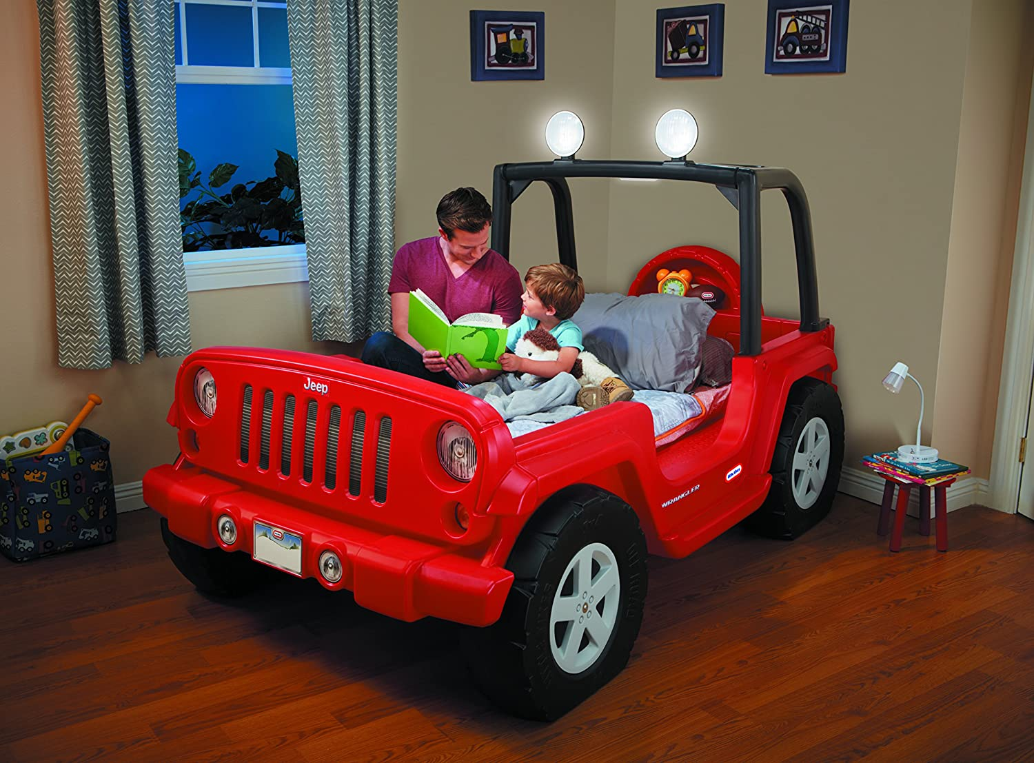 Baby jeep bed - Amazon Com Little Tikes Jeep Wrangler Toddler To Twin Bed Toys Games