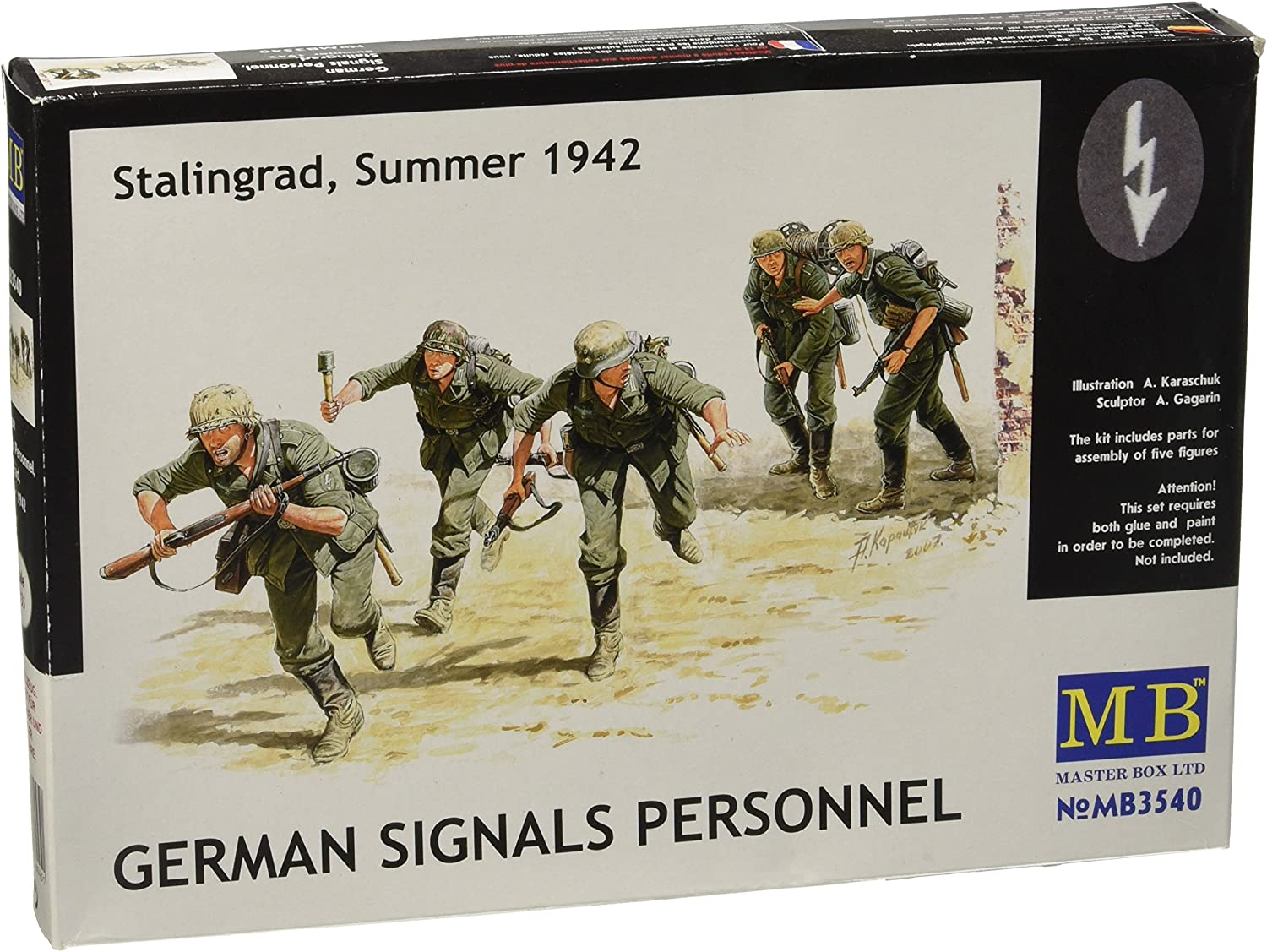 Master Box MB 1//35 3522 WWII German Infantry in Action Eastern Front Series 1