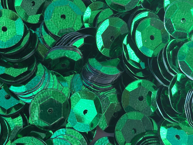Sequins 8mm 800//Pkg Emerald Green