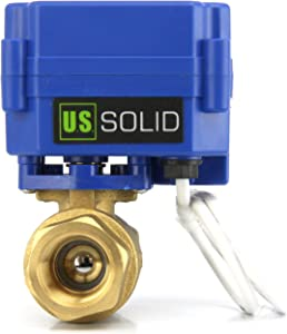 """Motorized Ball Valve- 3/4"""" Brass Electrical Ball Valve with Standard Port, 9-24V AC/DC and 3 Wire Setup by U.S. Solid …"""