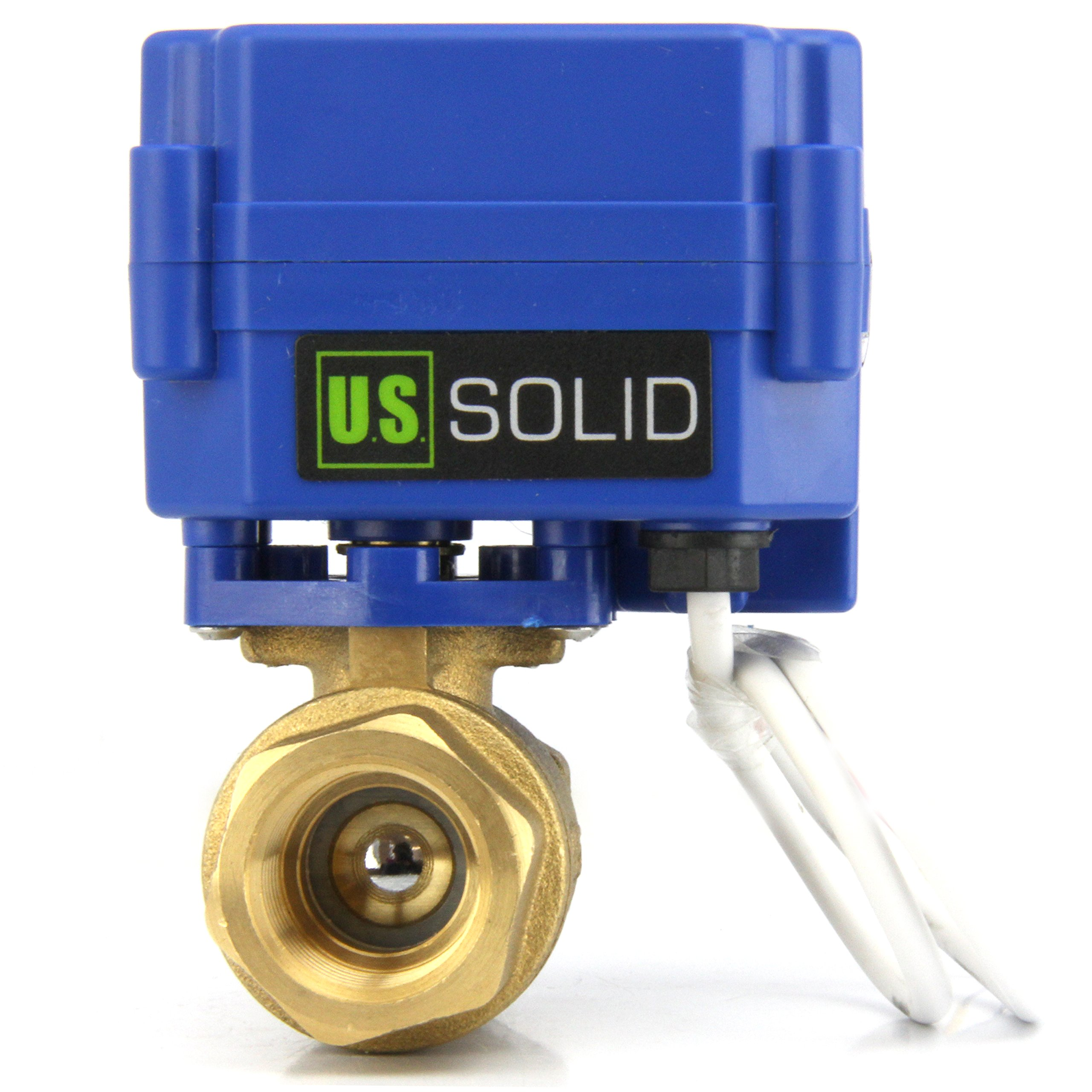 Motorized Ball Valve- 3/4'' Brass Electrical Ball Valve with Standard Port, 9-24V AC/DC and 3 Wire Setup by U.S. Solid …