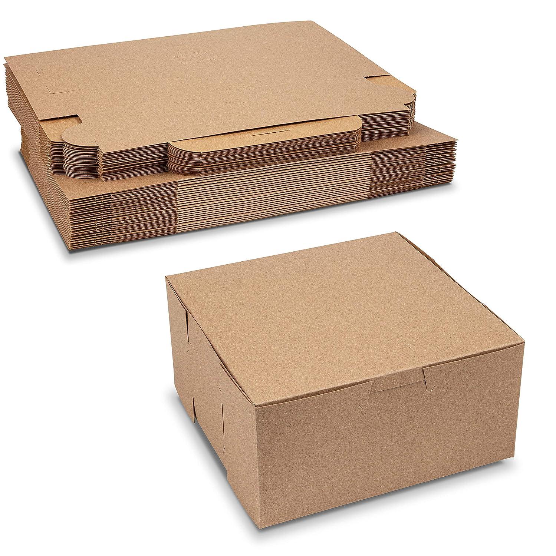 Beautiful Lock Corner Clay Coated Kraft Paperboard Bakery Box No-Window Size 6