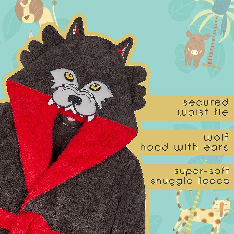 Metzuyan Boys Novelty Wolf Design Snuggle Dressing Gown Robe