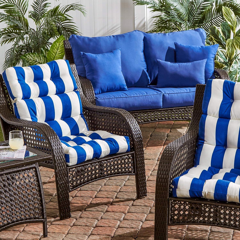 Amazon.com: South Pine Porch AM6809S2-CABANA-BLUE Outdoor ...