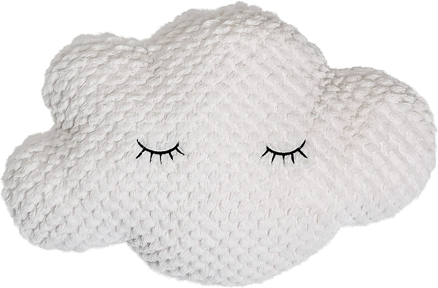 Bloomingville A75116280 Polyester White Cloud Pillow with Eyelashes