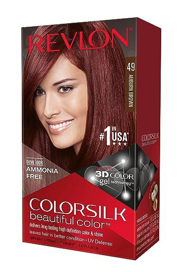Amazoncom  Revlon Colorsilk Haircolor Auburn Brown 1