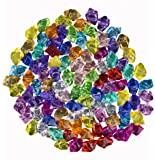 Multi-Colored Acrylic Diamonds Pirate Treasure Jewels for Costume Stage Props, Party Decoration,Wedding and Vase Fillers-100 Pcs