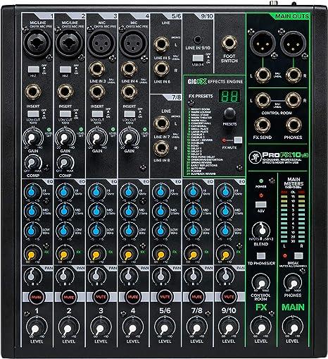 Mackie ProFX10v3 - Mesa de mezclas: Amazon.es: Instrumentos musicales