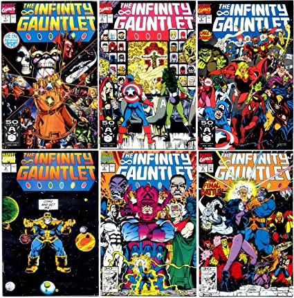amazon com infinity gauntlet 1 6 complete limited series marvel