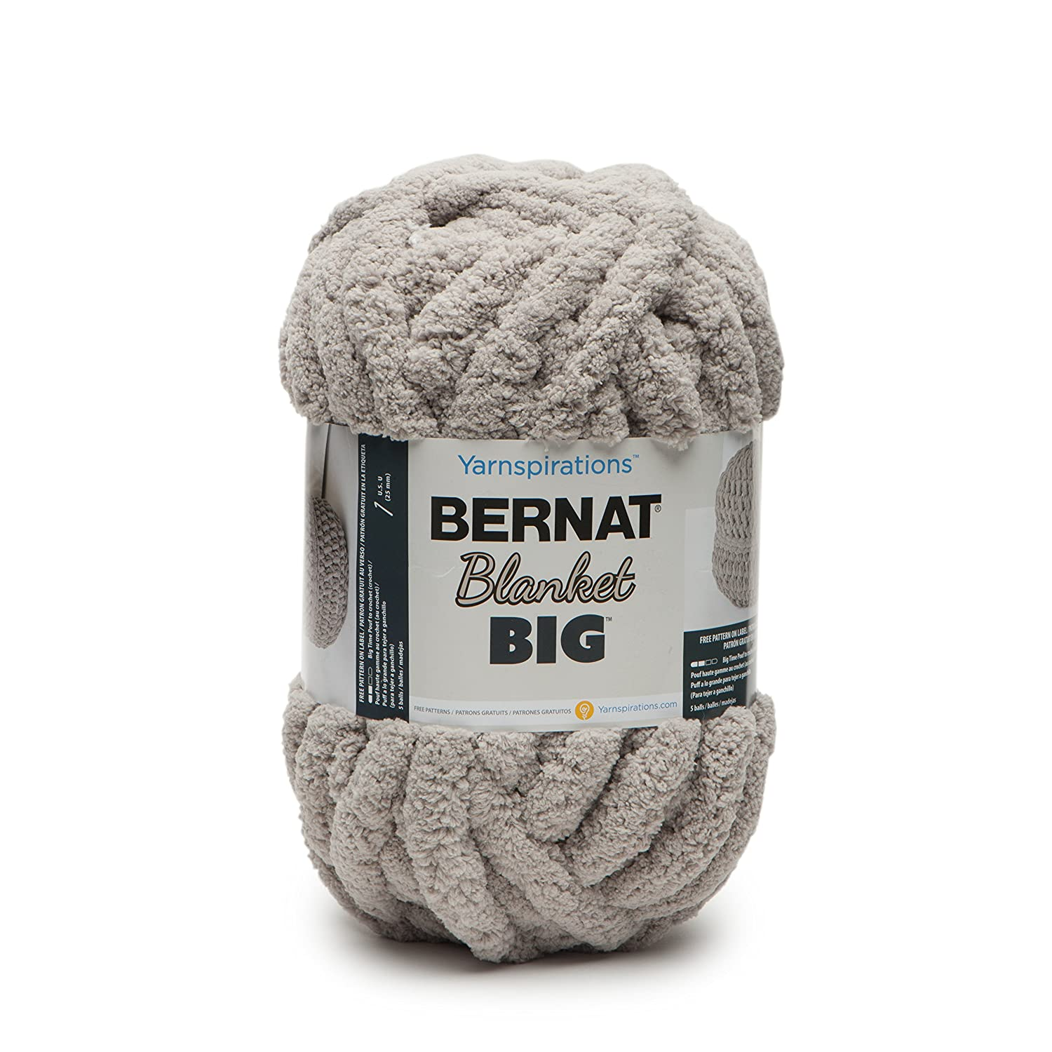 Bernat Blanket Big, All Colours, By WOOLEXPRESS, 161251 (Pale Grey ...