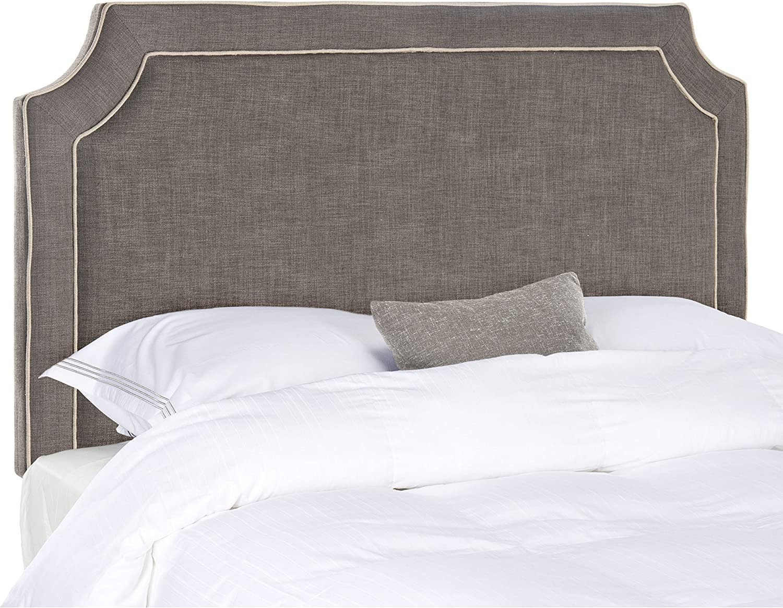 Safavieh Dane Charcoal Light Grey Upholstered Headboard King